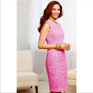 Talbots Garden Lace Sheath Dress